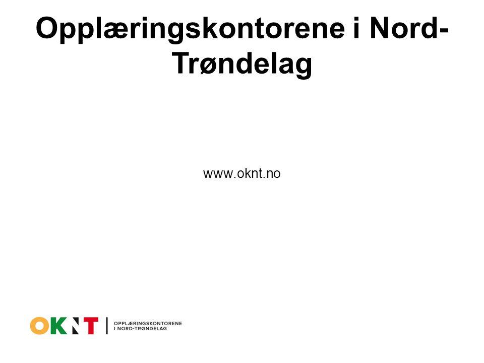 Opplæringskontorene i Nord- Trøndelag www.oknt.no