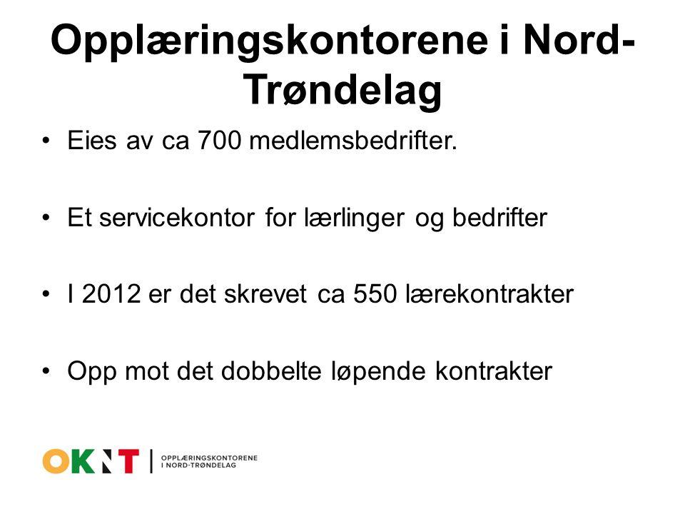 Opplæringskontorene i Nord- Trøndelag Eies av ca 700 medlemsbedrifter.