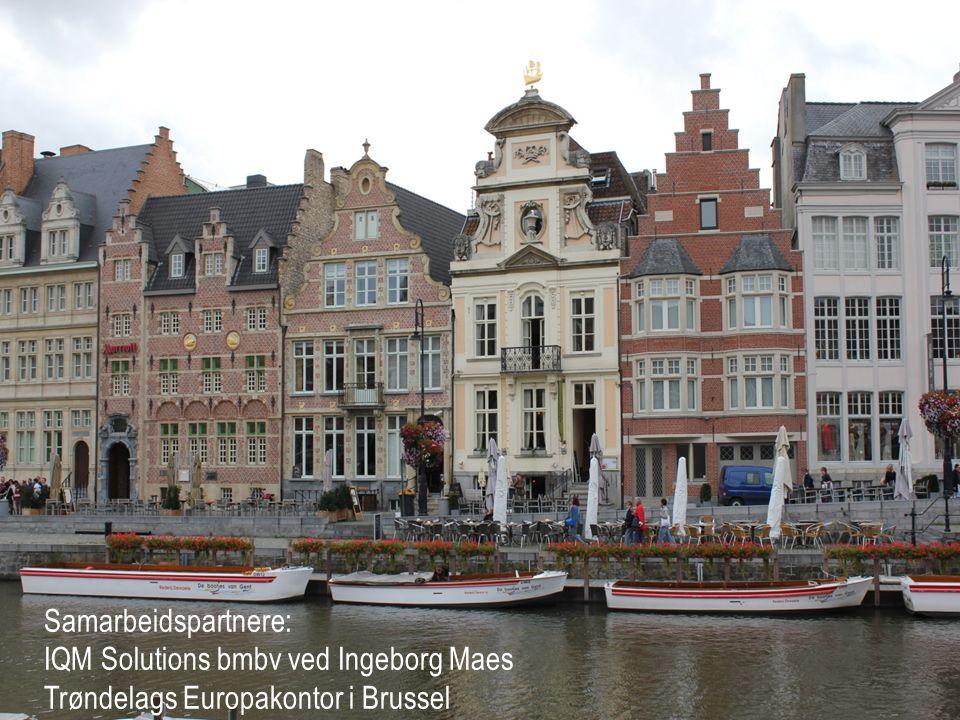Samarbeidspartnere: IQM Solutions bmbv ved Ingeborg Maes Trøndelags Europakontor i Brussel