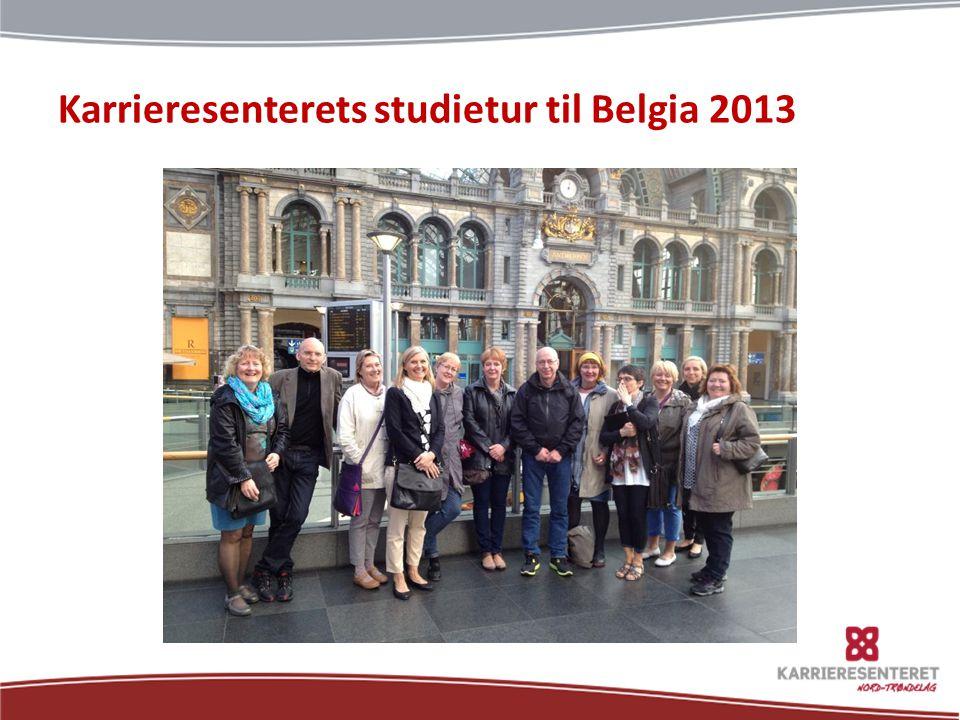 Karrieresenterets studietur til Belgia 2013