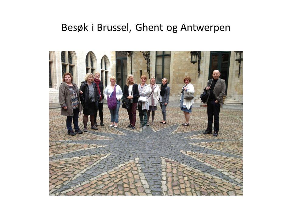 Besøk i Brussel, Ghent og Antwerpen