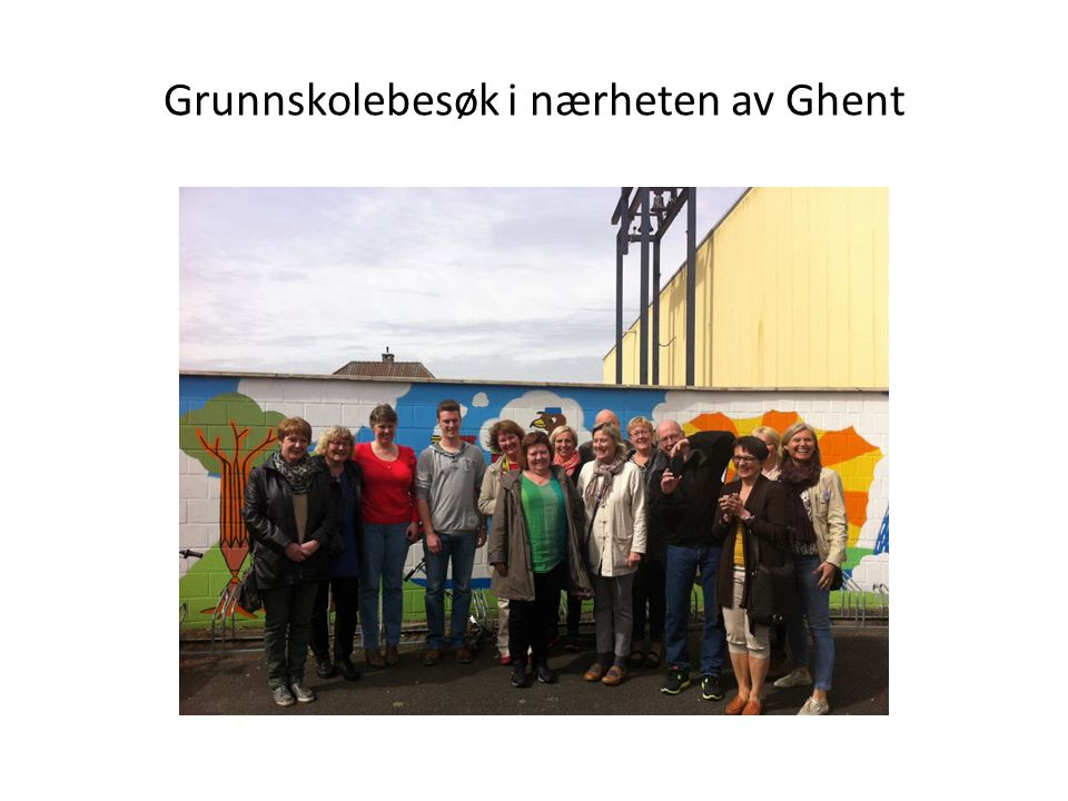 Grunnskolebesøk i nærheten av Ghent