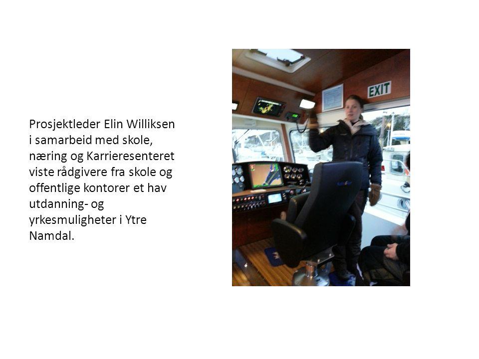Prosjektleder Elin Williksen i samarbeid med skole, næring og Karrieresenteret viste rådgivere fra skole og offentlige kontorer et hav utdanning- og yrkesmuligheter i Ytre Namdal.