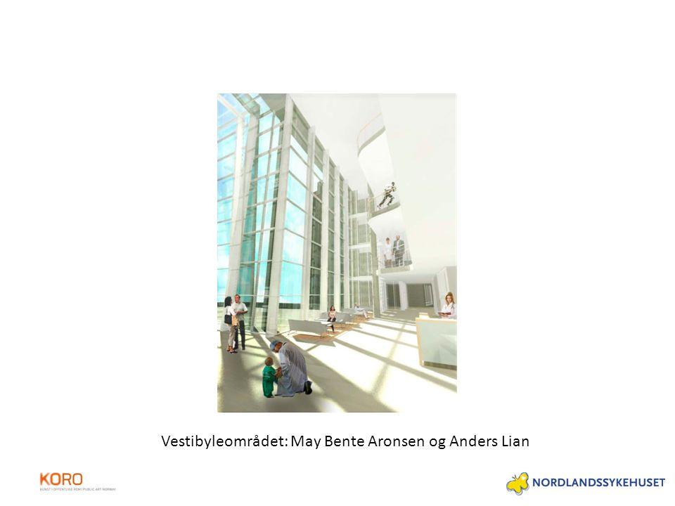 Vestibyleområdet: May Bente Aronsen og Anders Lian