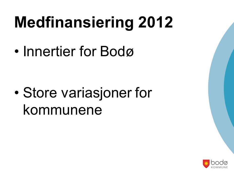 Medfinansiering 2012 Innertier for Bodø Store variasjoner for kommunene