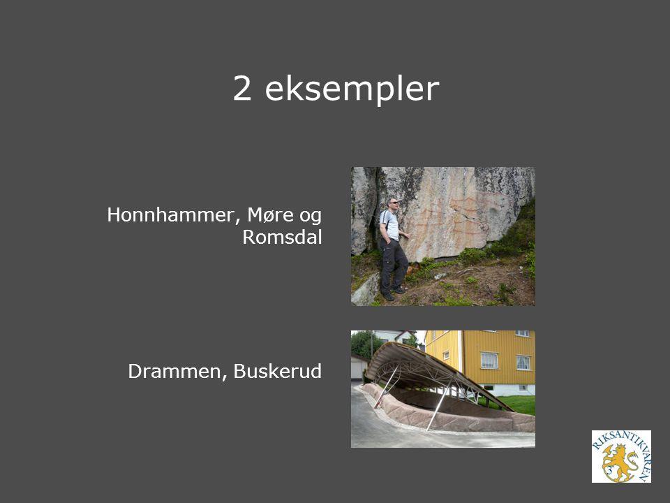 3 2 eksempler Honnhammer, Møre og Romsdal Drammen, Buskerud