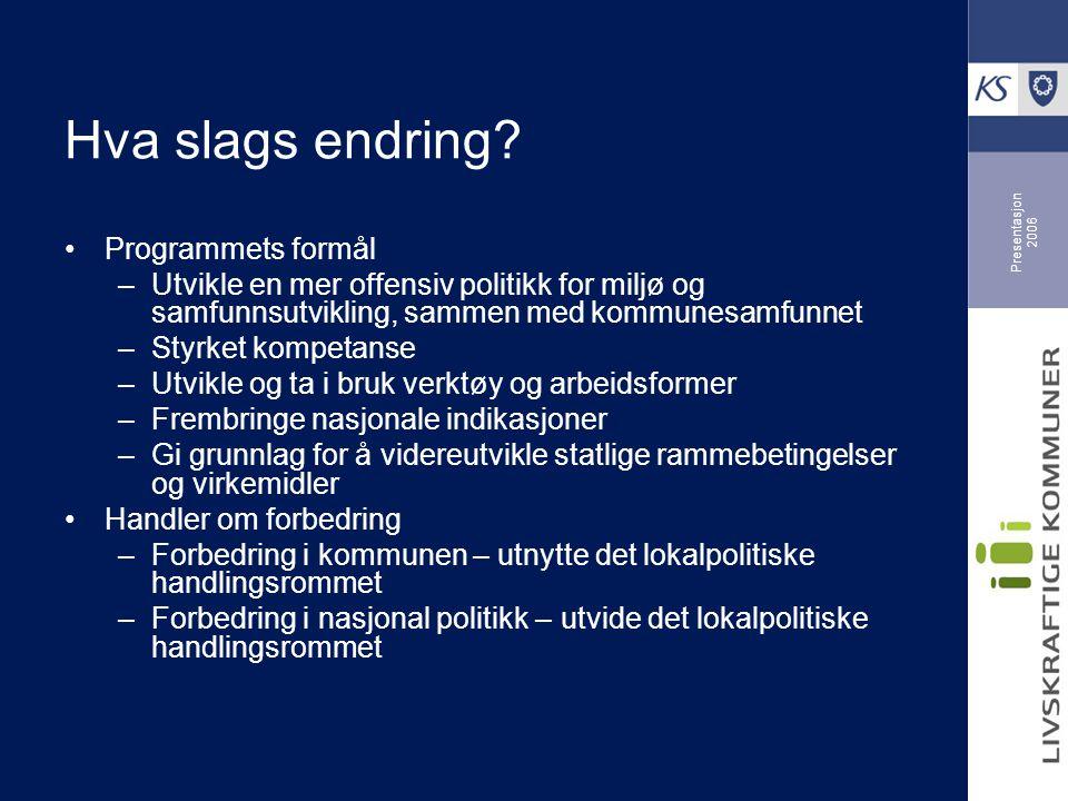 Presentasjon 2006 Hvordan skape endring.