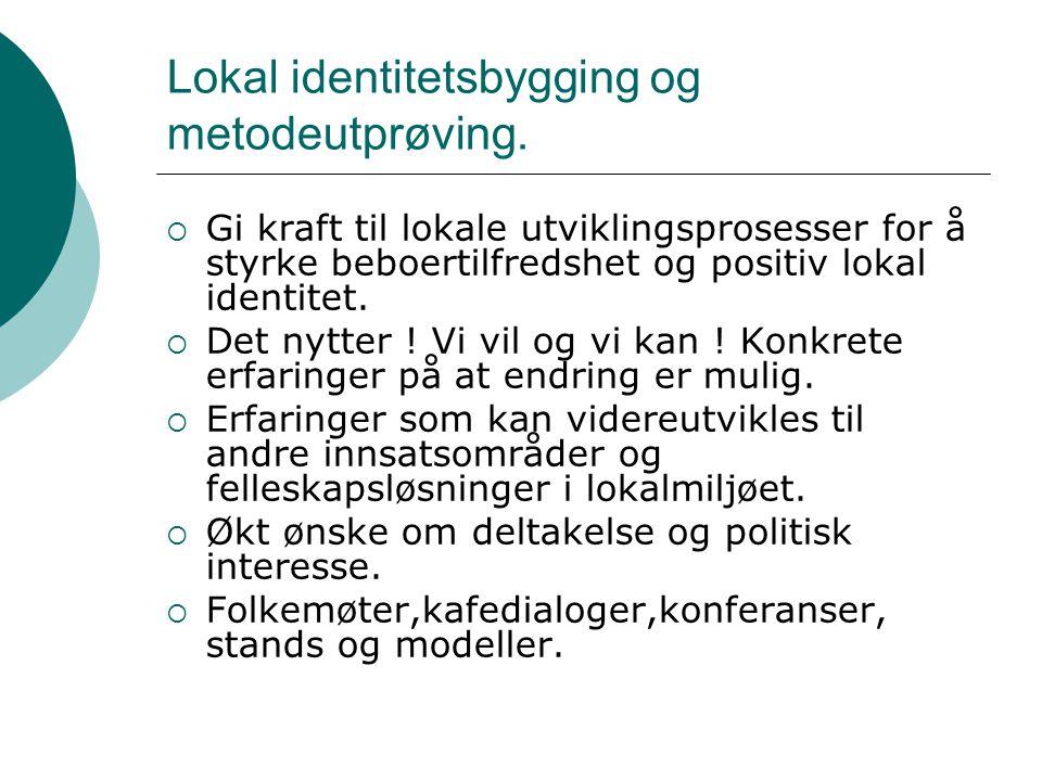 Lokal identitetsbygging og metodeutprøving.
