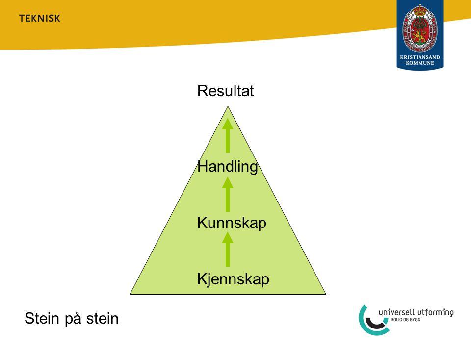 Resultat Handling Kunnskap Kjennskap Stein på stein