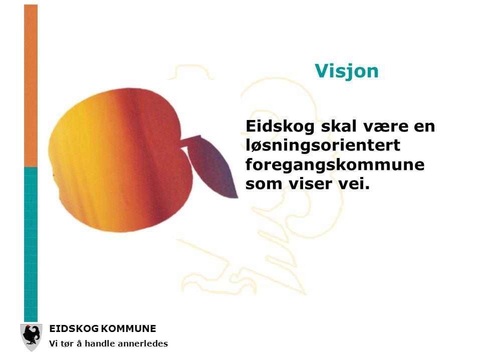EIDSKOG KOMMUNE Vi tør å handle annerledes Eidskog skal være en løsningsorientert foregangskommune som viser vei.