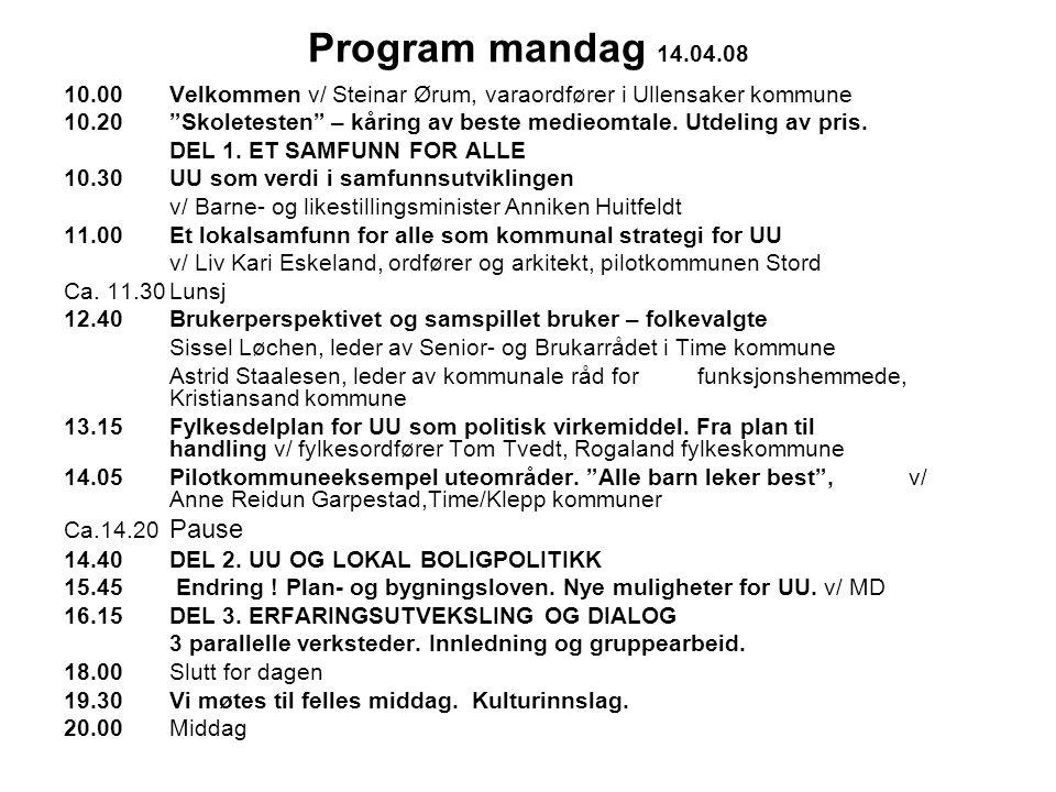 Program mandag 14.04.08 etter kl.14.40 DEL 2.
