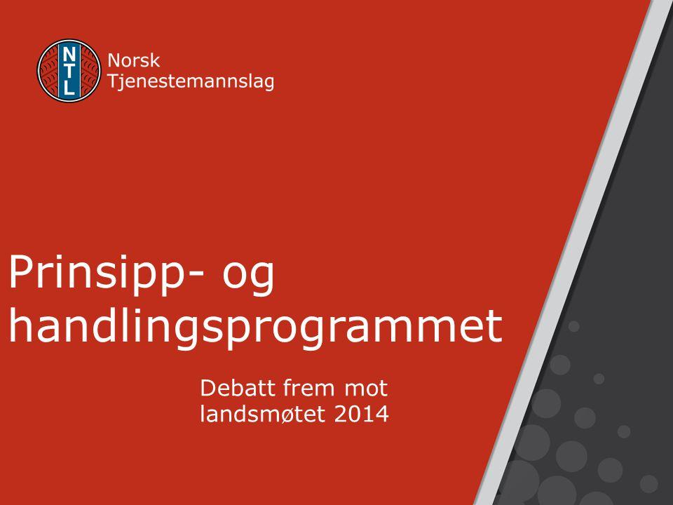 Prinsipp- og handlingsprogrammet Debatt frem mot landsmøtet 2014