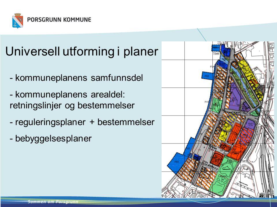 - kommuneplanens samfunnsdel - kommuneplanens arealdel: retningslinjer og bestemmelser - reguleringsplaner + bestemmelser - bebyggelsesplaner Universe