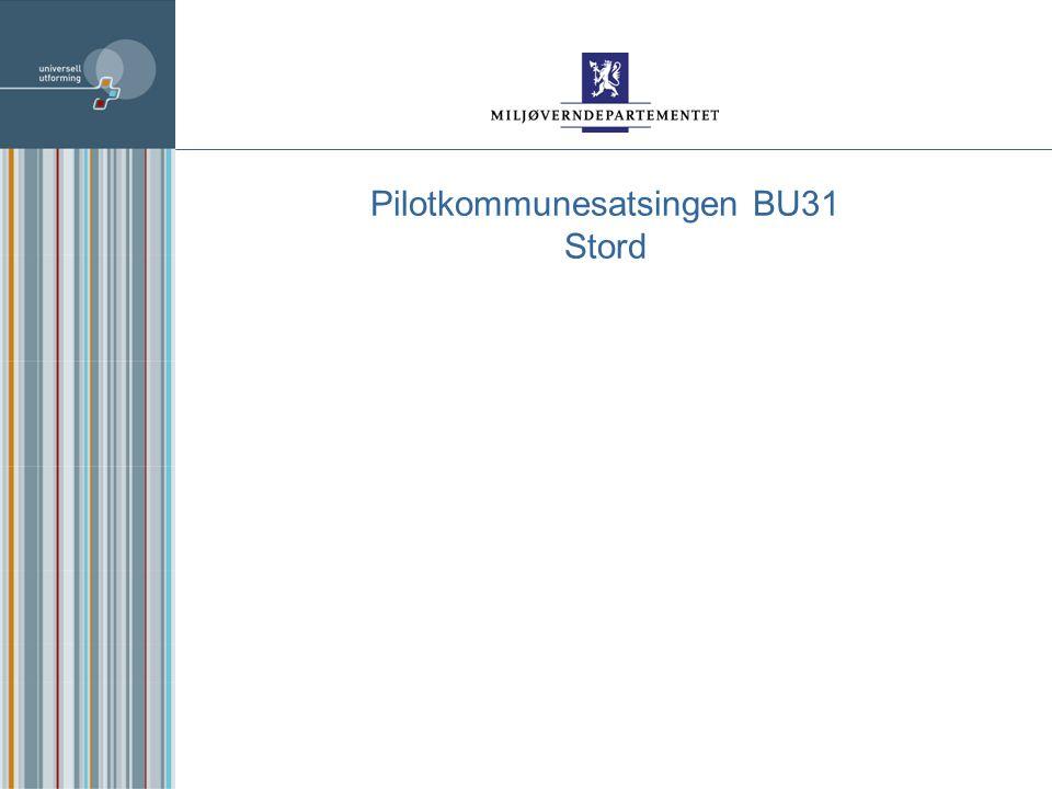 Pilotkommunesatsingen BU31 Stord