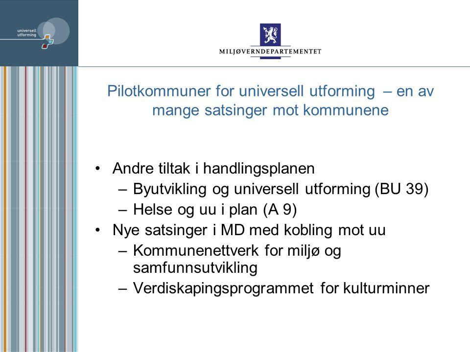 Forventninger til kommunene Tilsagnsbrevet til kommunene nov.