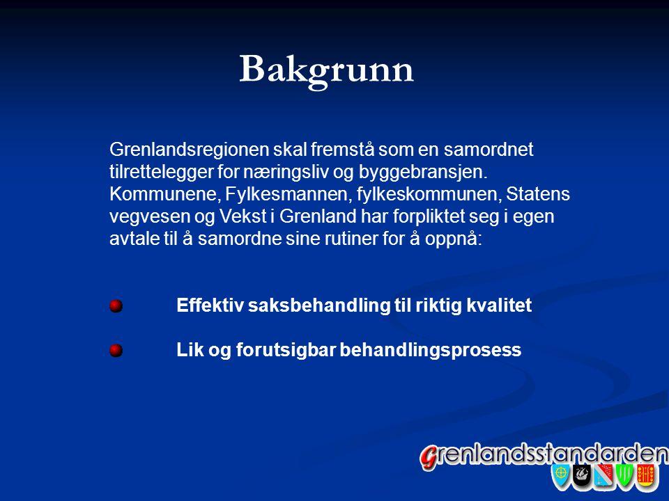 Bakgrunn Grenlandsregionen skal fremstå som en samordnet tilrettelegger for næringsliv og byggebransjen. Kommunene, Fylkesmannen, fylkeskommunen, Stat
