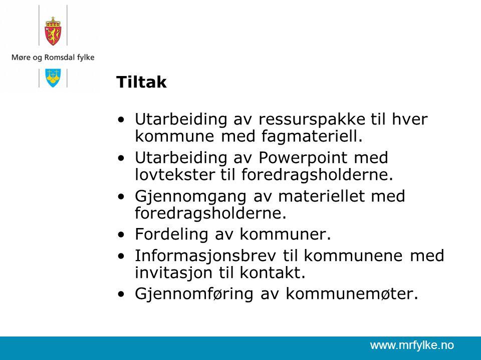www.mrfylke.no Tiltak Utarbeiding av ressurspakke til hver kommune med fagmateriell.
