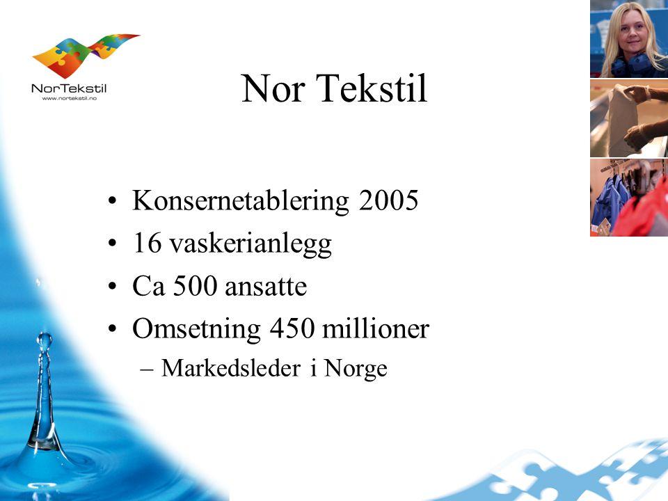 Ski Drammen Skien Telemark Kristiansand Stavanger Bergen Voss Mongstad Florø Sogn Vadheim Ålesund Molde Trondheim Nor Tekstil Norges ledende leverandør av vaskeritjenester