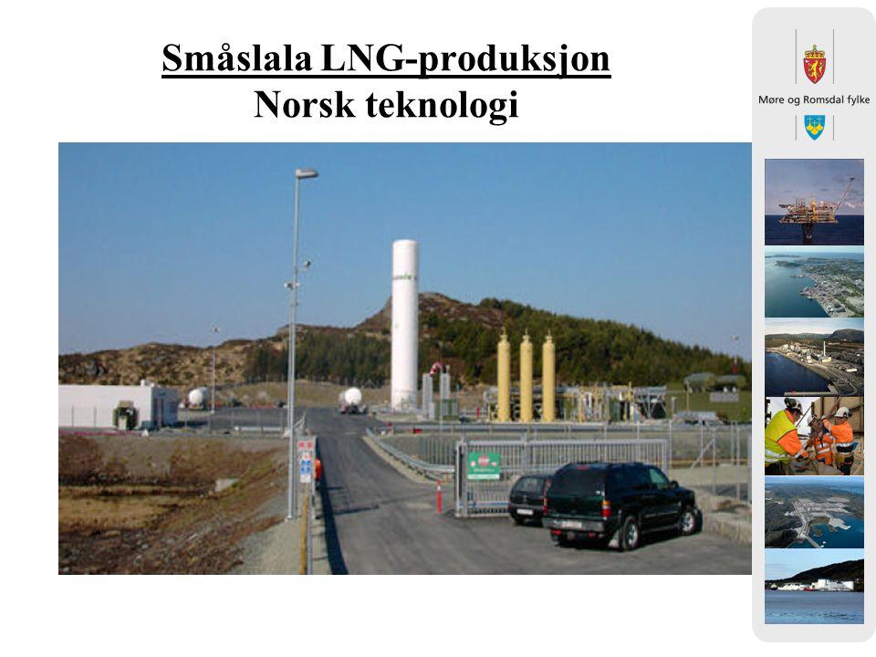 Småslala LNG-produksjon Norsk teknologi Bilde fra Gasnor
