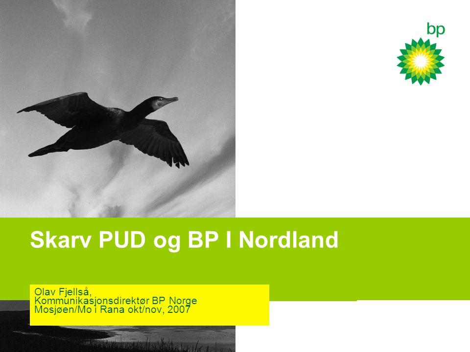 Skarv PUD og BP I Nordland Olav Fjellså, Kommunikasjonsdirektør BP Norge Mosjøen/Mo i Rana okt/nov, 2007