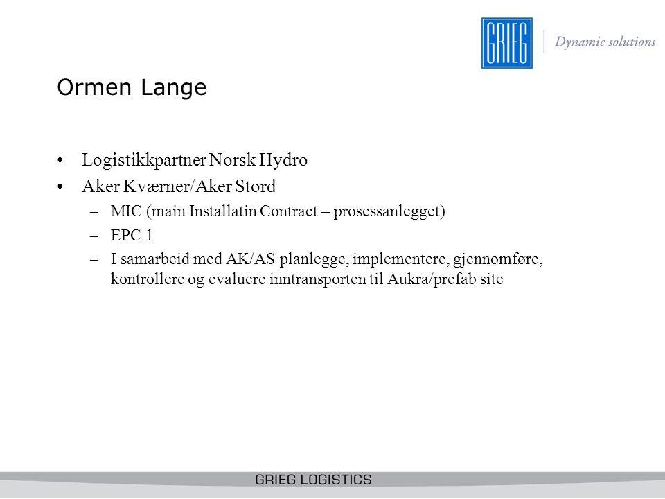 Grieg Logistics KS Ormen Lange Freigth Forwarding Team