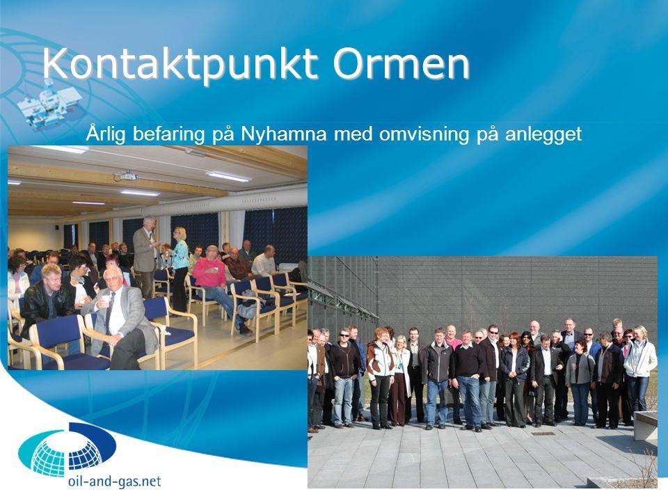 Kontaktpunkt Ormen Årlig befaring på Nyhamna med omvisning på anlegget