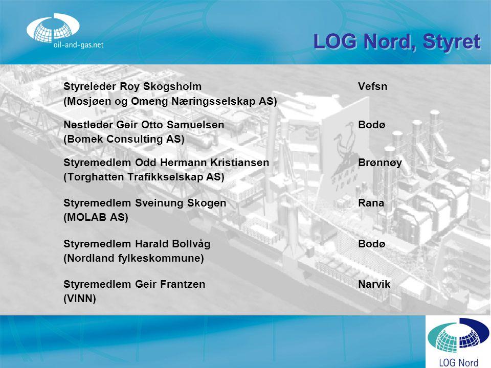 LOG Nord, Styret Styreleder Roy Skogsholm Vefsn (Mosjøen og Omeng Næringsselskap AS) Nestleder Geir Otto SamuelsenBodø (Bomek Consulting AS) Styremedl