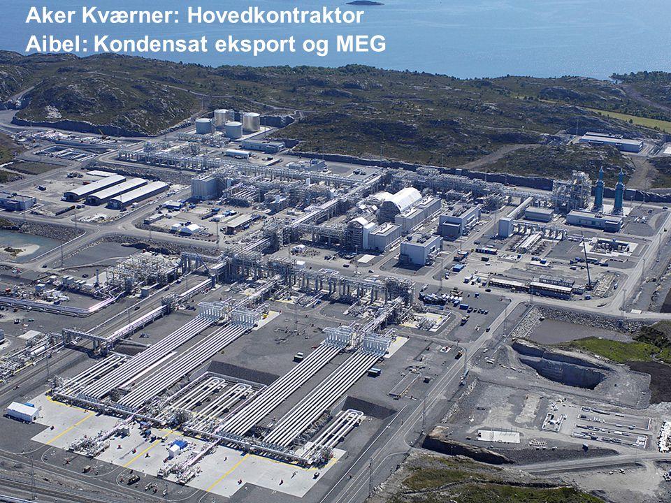 Date: 2007-09-26 Page: 19 Aker Kværner: Hovedkontraktor Aibel: Kondensat eksport og MEG