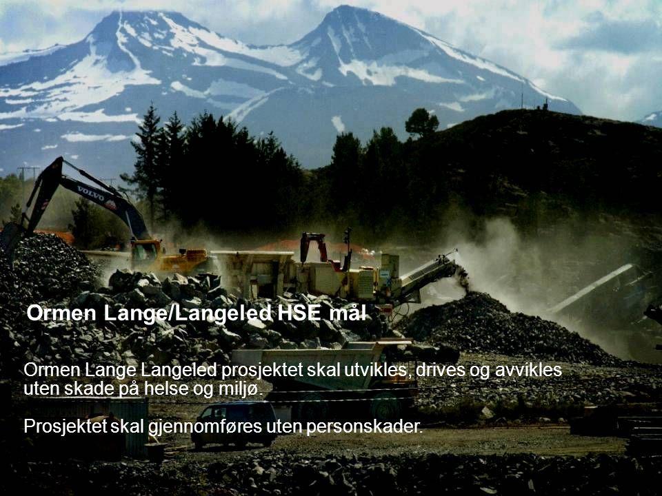 Date: 2007-09-26 Page: 3 Ormen Lange/Langeled HSE mål Ormen Lange Langeled prosjektet skal utvikles, drives og avvikles uten skade på helse og miljø.