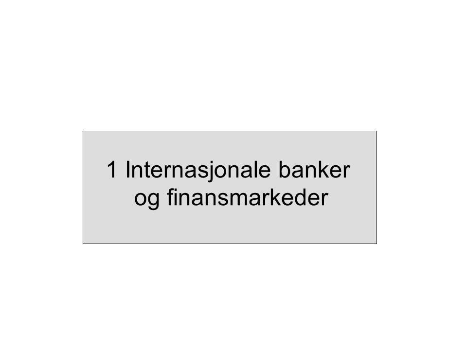 1 Internasjonale banker og finansmarkeder