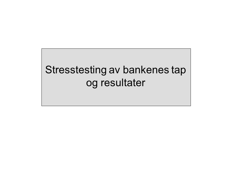 Stresstesting av bankenes tap og resultater