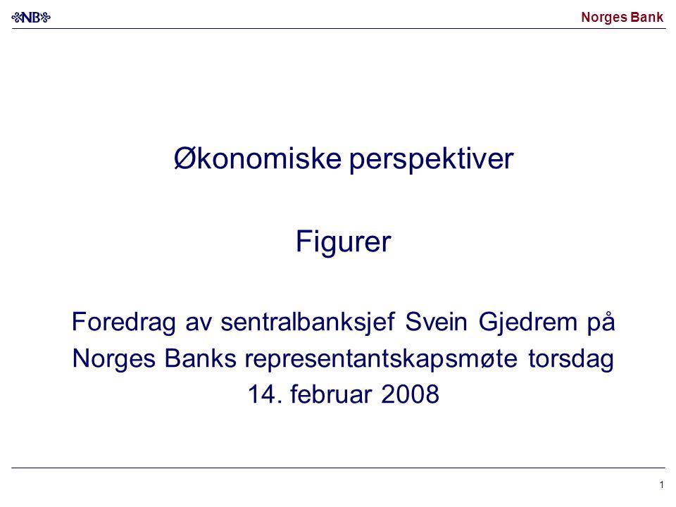 Norges Bank 1 Økonomiske perspektiver Figurer Foredrag av sentralbanksjef Svein Gjedrem på Norges Banks representantskapsmøte torsdag 14. februar 2008