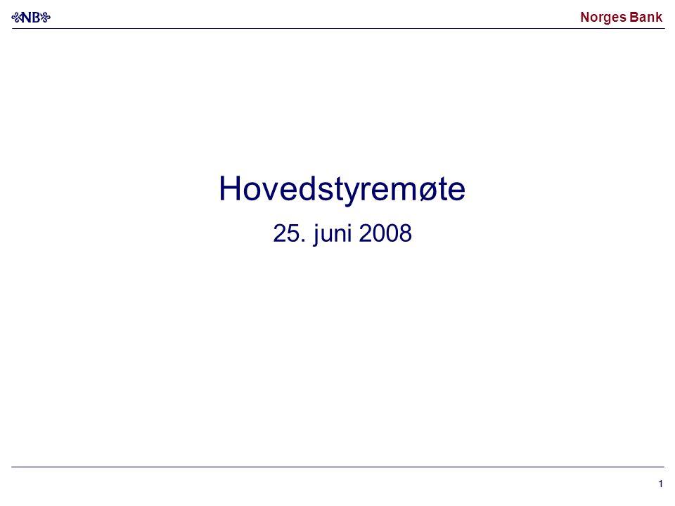 Norges Bank 11 Hovedstyremøte 25. juni 2008