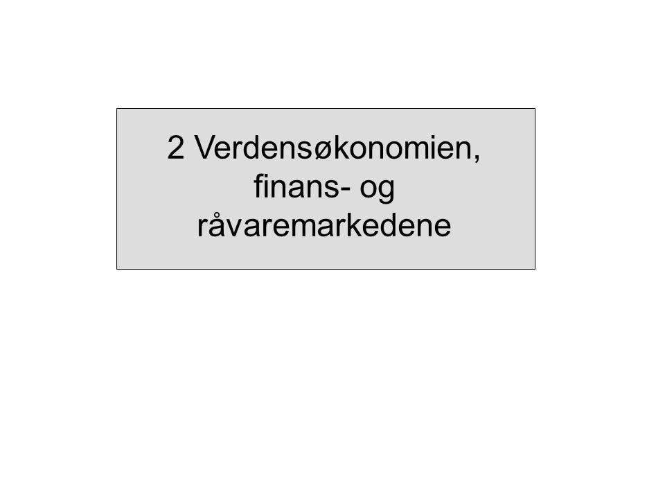 Figur 2.1 Utviklingen i aksjemarkedene.Indeks, 1.