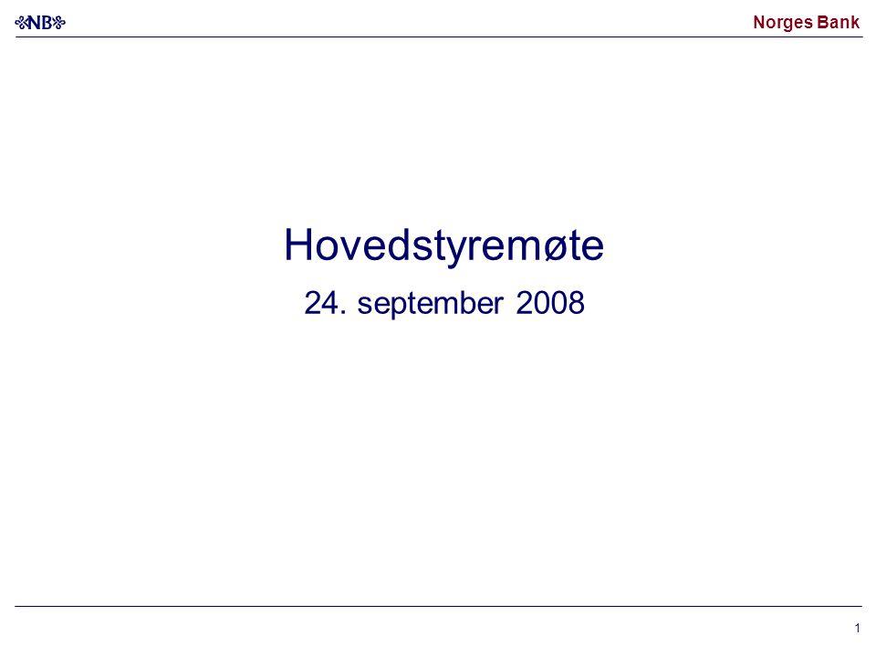 Norges Bank 1 Hovedstyremøte 24. september 2008