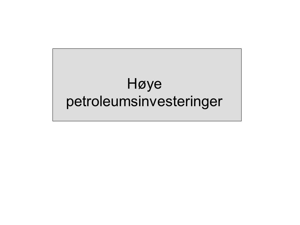 Høye petroleumsinvesteringer