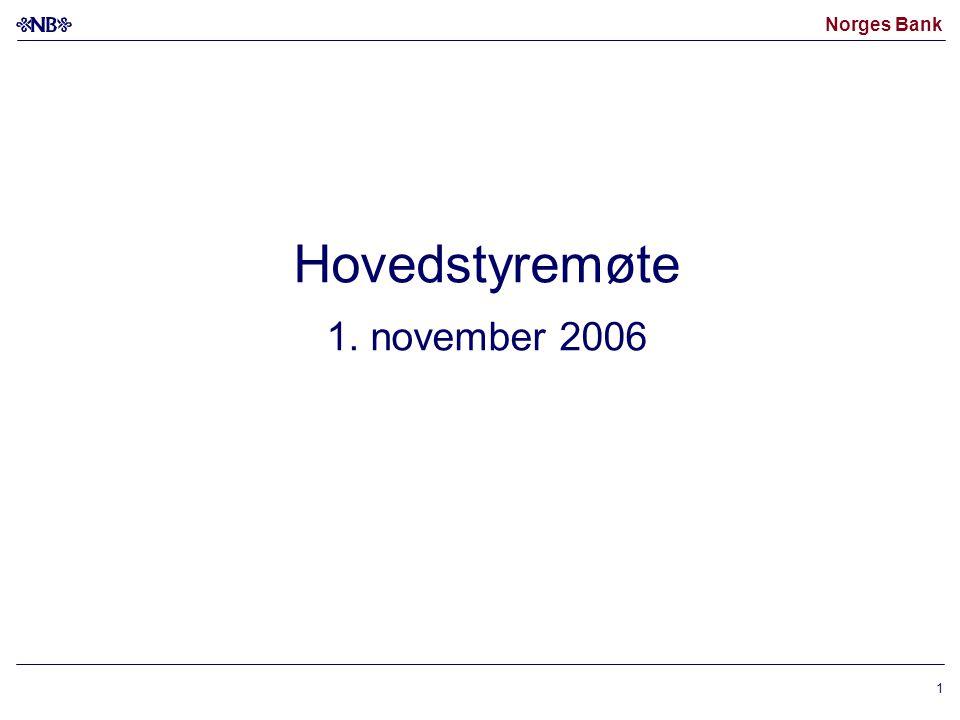 Norges Bank 1 Hovedstyremøte 1. november 2006