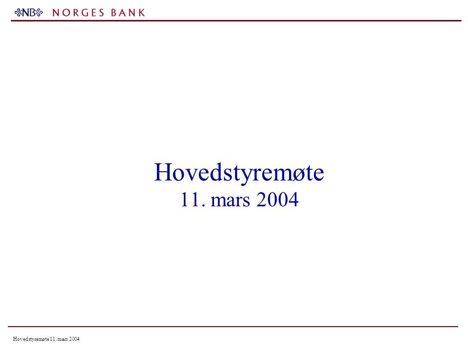 Hovedstyremøte 11. mars 2004