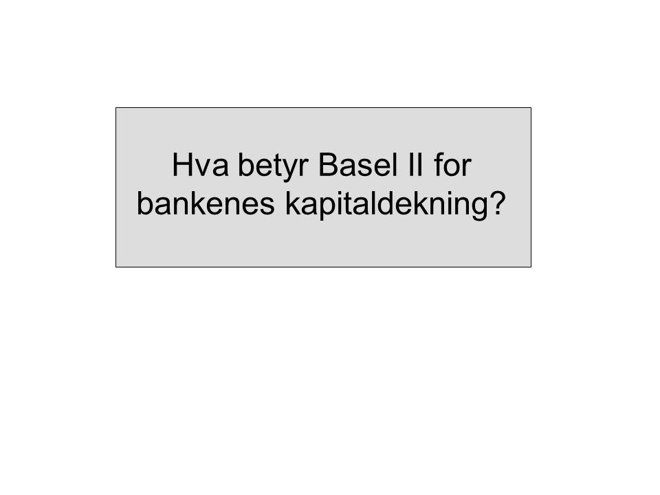 Hva betyr Basel II for bankenes kapitaldekning?