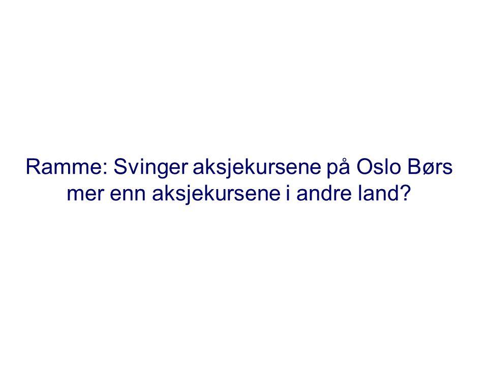 Ramme: Svinger aksjekursene på Oslo Børs mer enn aksjekursene i andre land?