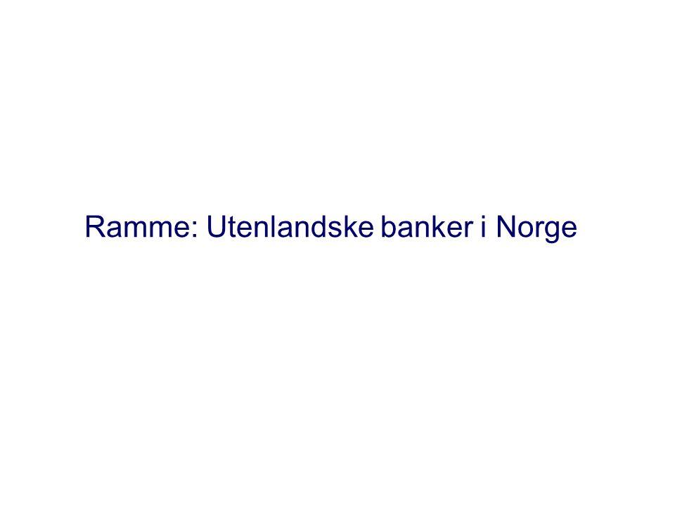 Ramme: Utenlandske banker i Norge