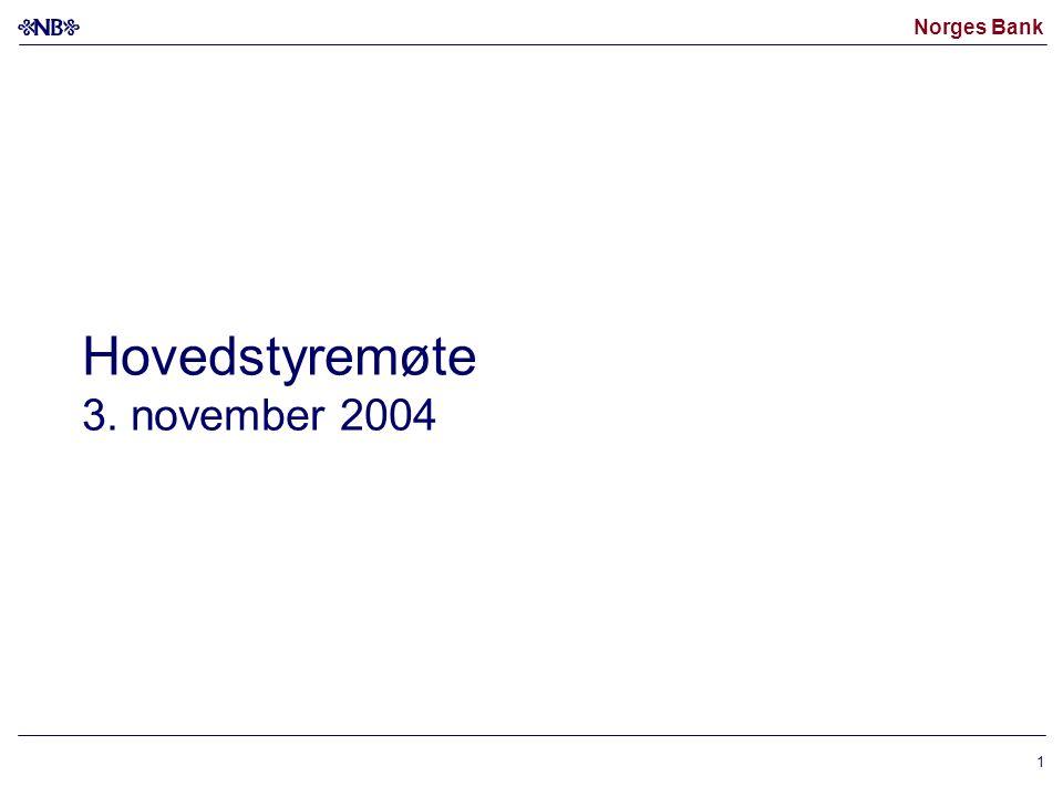 Norges Bank 1 Hovedstyremøte 3. november 2004