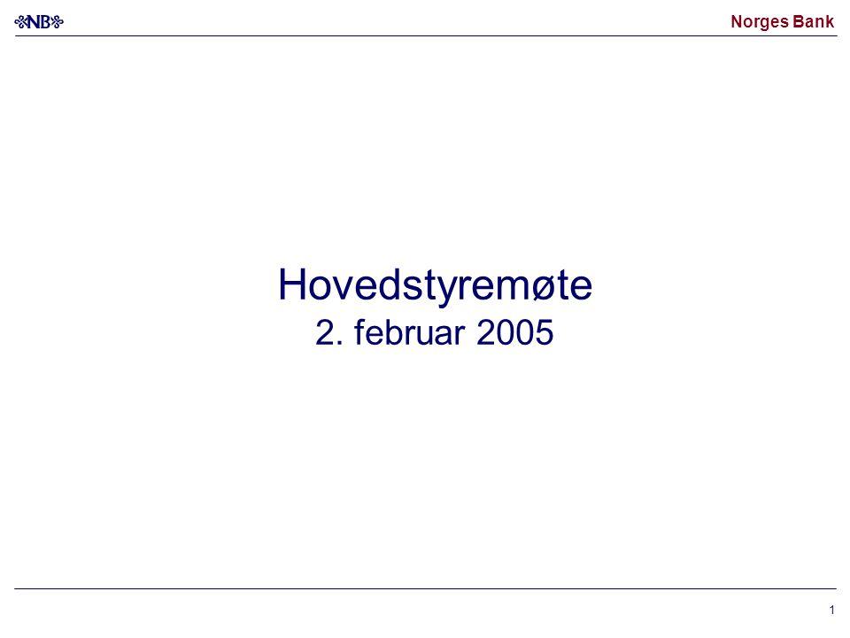Norges Bank 1 Hovedstyremøte 2. februar 2005