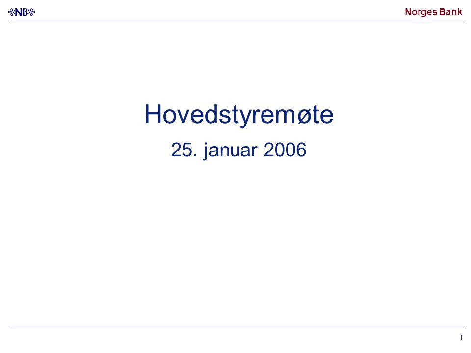 Norges Bank 1 Hovedstyremøte 25. januar 2006