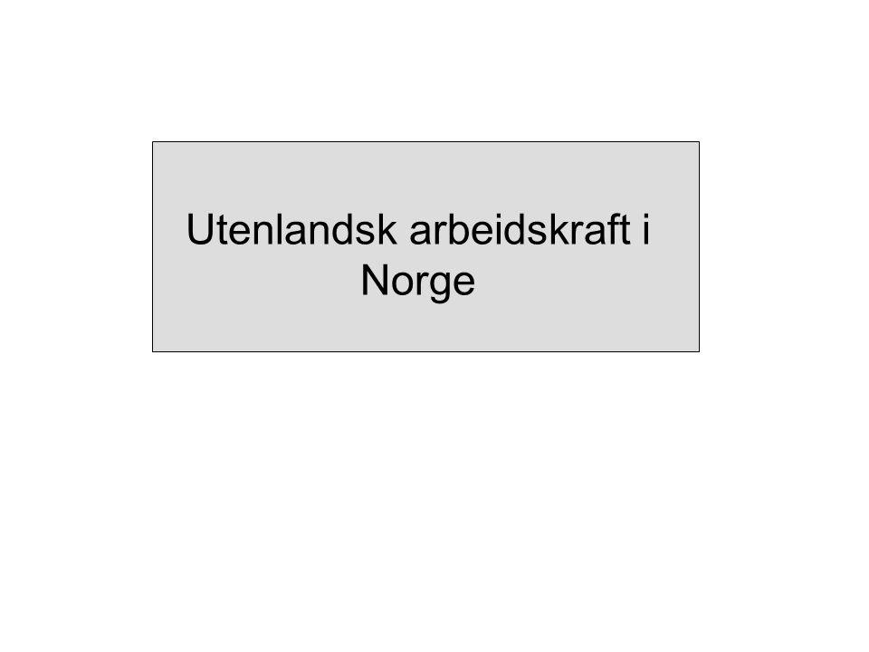 Utenlandsk arbeidskraft i Norge