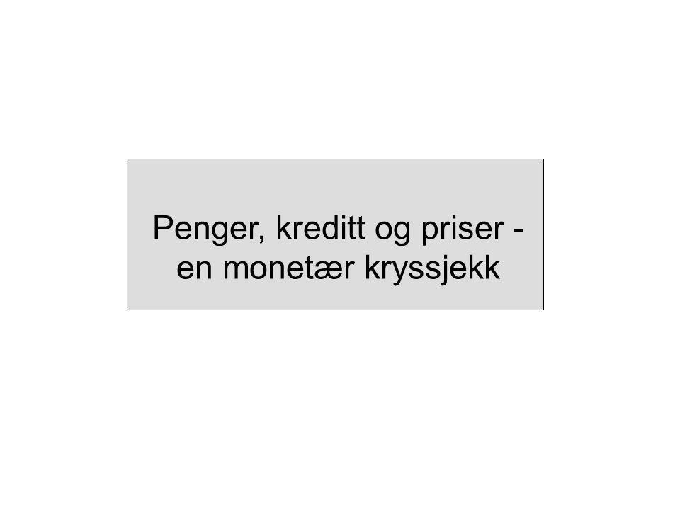 Penger, kreditt og priser - en monetær kryssjekk