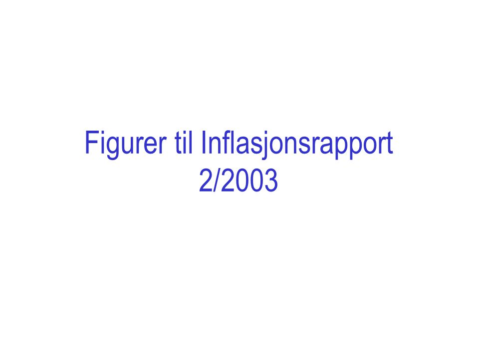 Figur 1 Anslag på KPI-JAE og produksjonsgapet 1) med en foliorente på 4 prosent og importvektet kronekurs lik gjennomsnittet 3/6-19/6 (I-44=93,5).