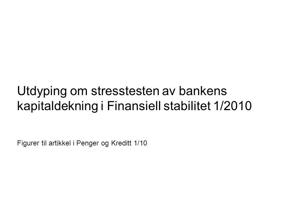 Utdyping om stresstesten av bankens kapitaldekning i Finansiell stabilitet 1/2010 Figurer til artikkel i Penger og Kreditt 1/10 Norges Bank Finansiell stabilitet