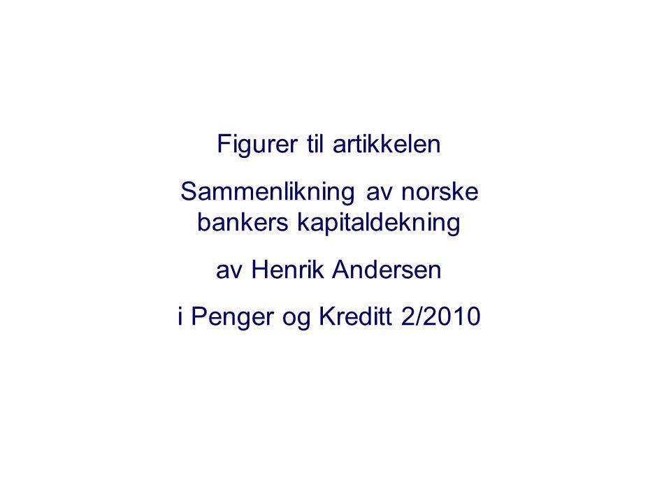 Figurer til artikkelen Sammenlikning av norske bankers kapitaldekning av Henrik Andersen i Penger og Kreditt 2/2010