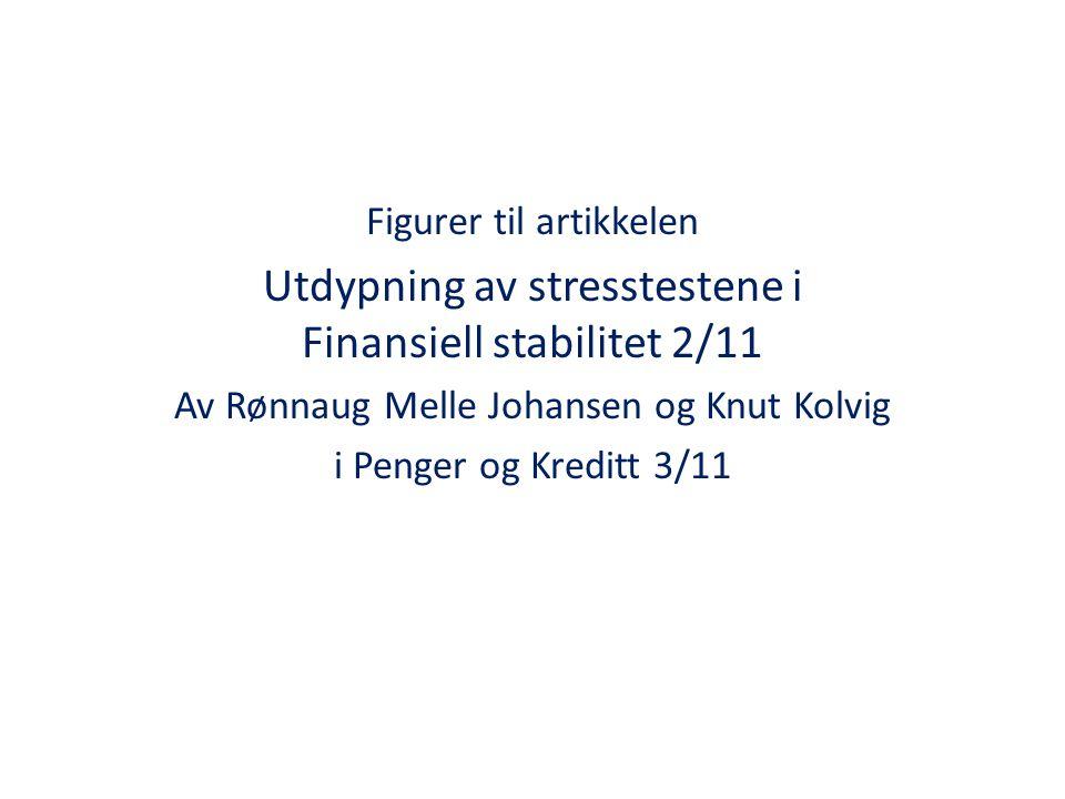 Figurer til artikkelen Utdypning av stresstestene i Finansiell stabilitet 2/11 Av Rønnaug Melle Johansen og Knut Kolvig i Penger og Kreditt 3/11